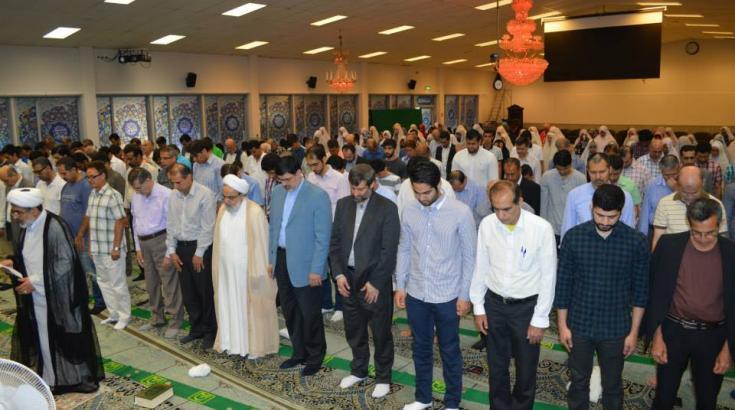 Eid Al-Fitr bönen (Fastebrytningsdagen) - 2014